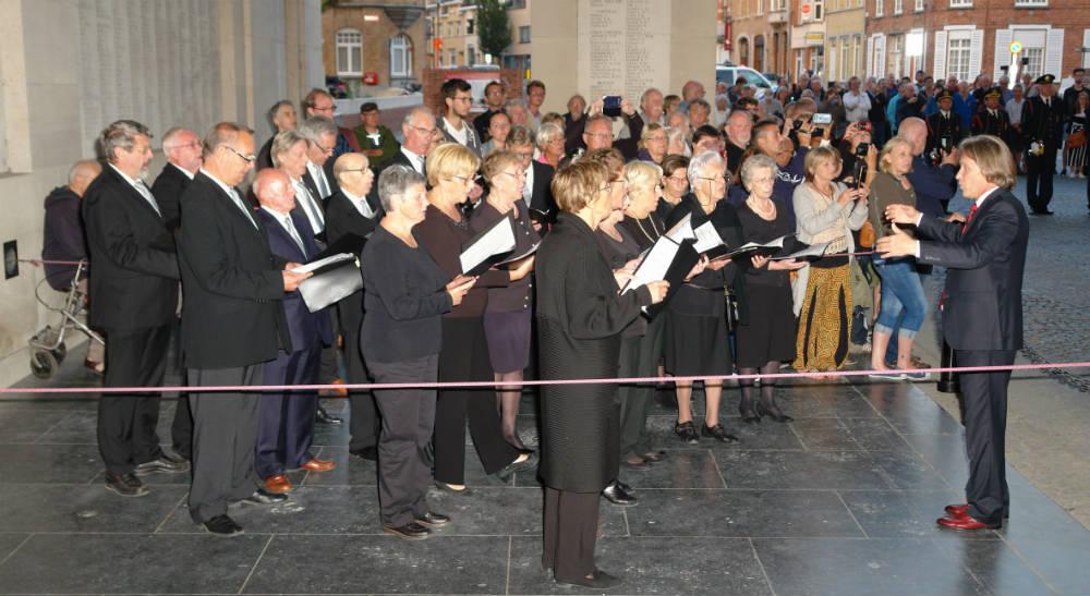 Optreden-Sint-Gregoirus- zanggilde- tijdens- Last-Post-2018-09-10